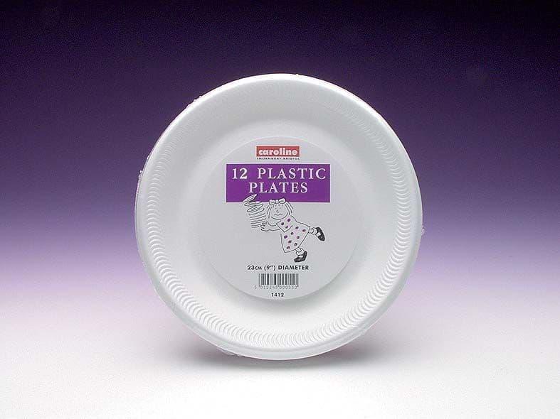 "Caroline Foam Plates Pack 12 - 9"""